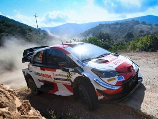 toyota italy takes the first two places in the sardinia rally