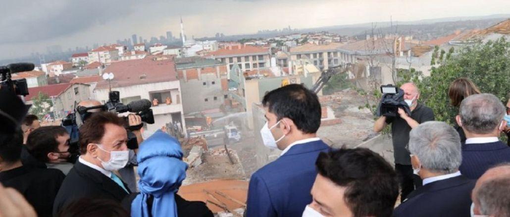 grand projet de nouveau logement de transformation a commencé à uskudar
