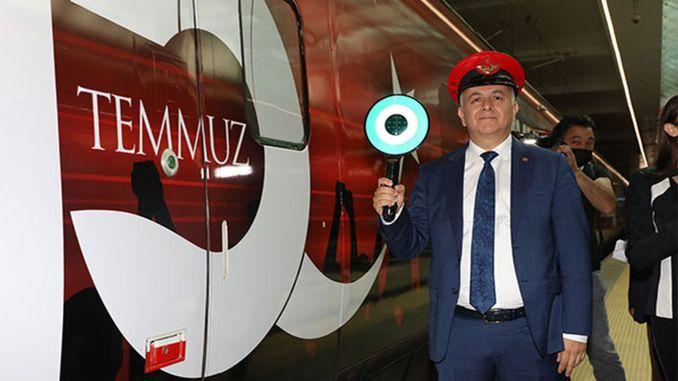 تموز / يوليو الديمقراطية والوحدة الوطنية قطار ugurlanded من أنقرة