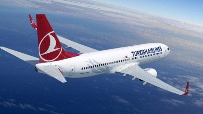 The engine of a plane belonging to THY, which made its flight from Istanbul to Ankara, burned down