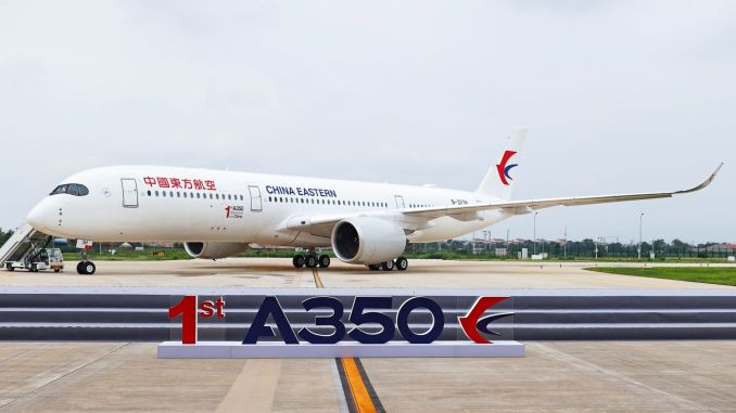 airbus delivered its first a plane in china