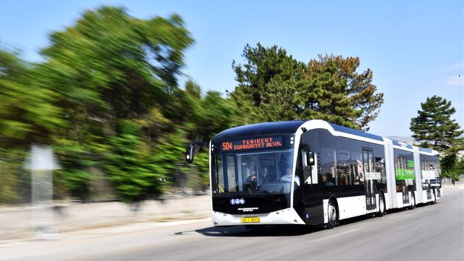 electric bus test vehicles started in ankara