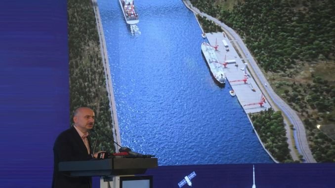 minister karaismailoglu canal istanbul guzergahi already waterway