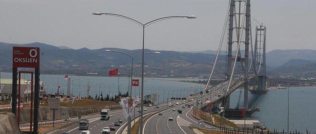 karaismailoglu heralded a rare development on the osmangazi bridge