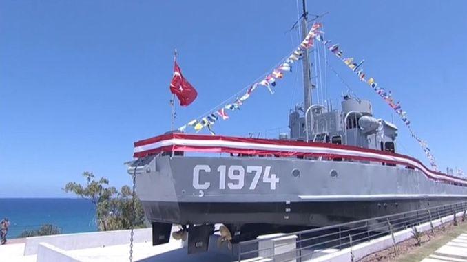 lefkosada muze haline getirilen cikarma gemisi c un acilisi yapildi