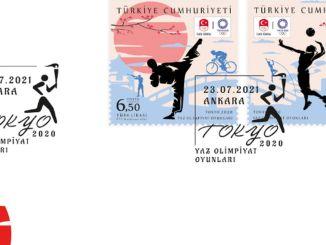 পিটিটি টোকিও গ্রীষ্মের অলিম্পিক গেমস থেকে স্মরণীয় স্ট্যাম্প এবং প্রথম দিনের খাম