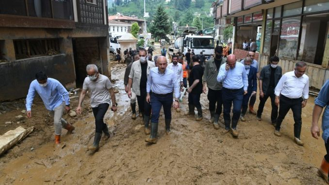 Wounds heal after the flood disaster in Rize