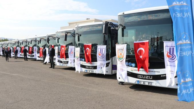 public transport in sanliurfa is free during the feast