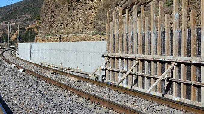 الجدار الاستنادي للسكك الحديدية