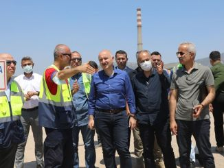 Das Wärmekraftwerk Yenikoy wurde durch die offenen Straßen gesichert