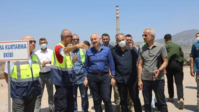 Yenikoy thermal power plant was secured by the open roads
