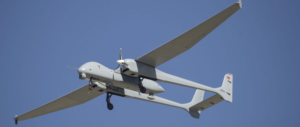 Aksungur UAV was in the air in the fight against the fire.