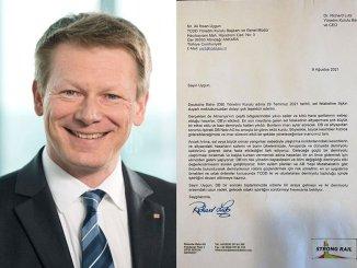 pismo zahvalnosti njemačke kompanije željeznica CEO to tcdd