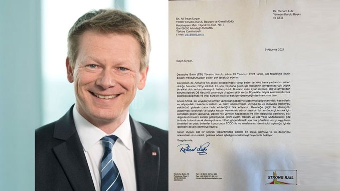 thank you letter from german railways company ceo to tcdd