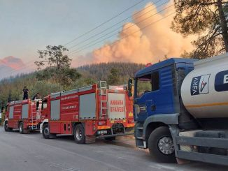 ankara buyuksehir continues to supply personnel vehicles and food to fire zones
