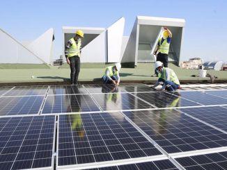 ייצור החשמל החל מתחת לגג של עיריית מטרופולין Antalya