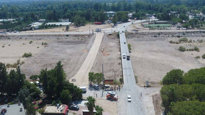 A new bridge is being built on the antalya express cakirlar road