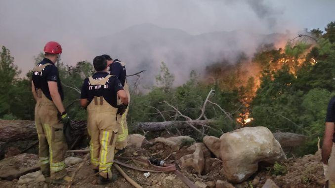IBB-Teams intervenierten bei den Bränden rund um das Heizkraftwerk Kemerkoy