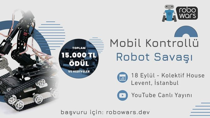 Countdown has begun to robowars robotics competition to be held in istanbul
