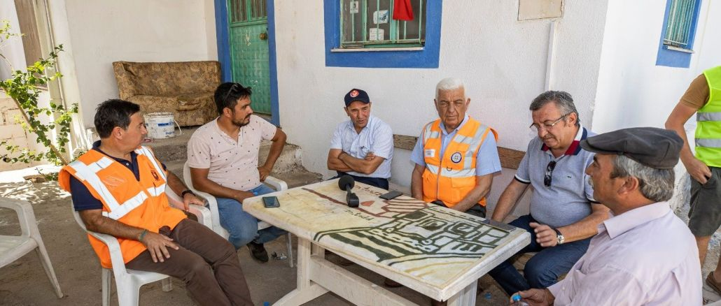 Intensive support from izmir metropolitan municipality to fire areas