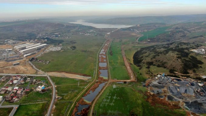 The zoning plans of the giant land on the canal istanbul route have been canceled