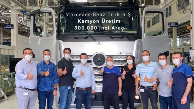 pearl truck of mercedes benz turk aksaray truck factory actros plus got off the band