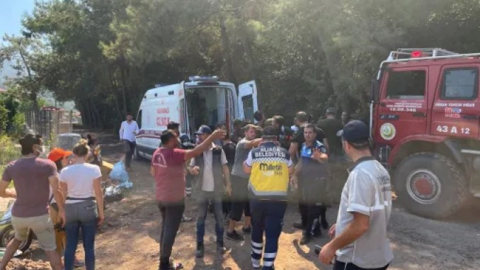 the team of the nation is in the fire zone of marmaris