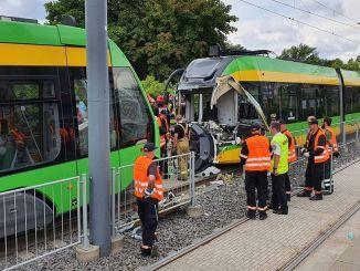 Polen Straßenbahnunfall verletzt