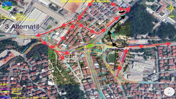 For the SGK crossroad, traffic will be provided from alternative routes