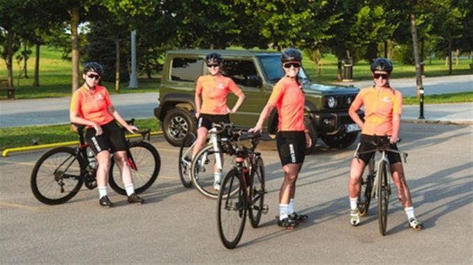 Suzuki ženski biciklistički tim zauzima svoje mjesto na poluvremenu