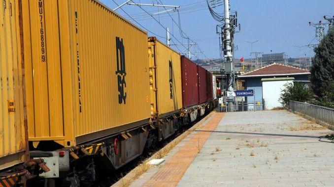 Ladungen aus Tekirdağ werden per Bahn nach Ungarn transportiert.