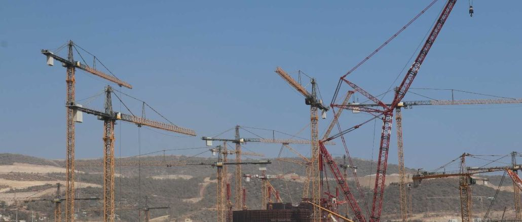 One of the world's strongest construction cranes was commissioned in Akkuyu ngs construction
