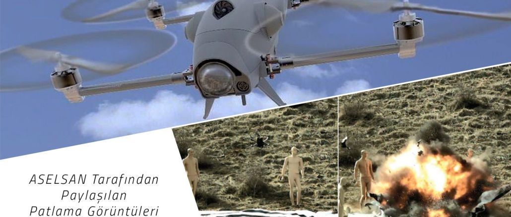 Multi-rotor Kamikaze UAV from Aselsan and Rocketsan