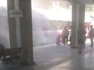 Изгорео је воз који је ујутру пришао станици да покупи путнике.