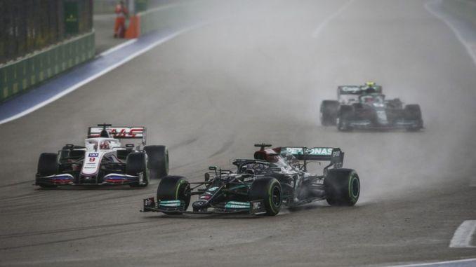 Hamilton won the victory