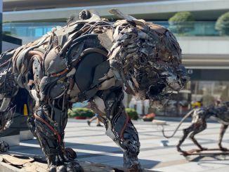 Ausstellung für fortgeschrittene Transformationsskulpturen im Zentrum von Zorlu