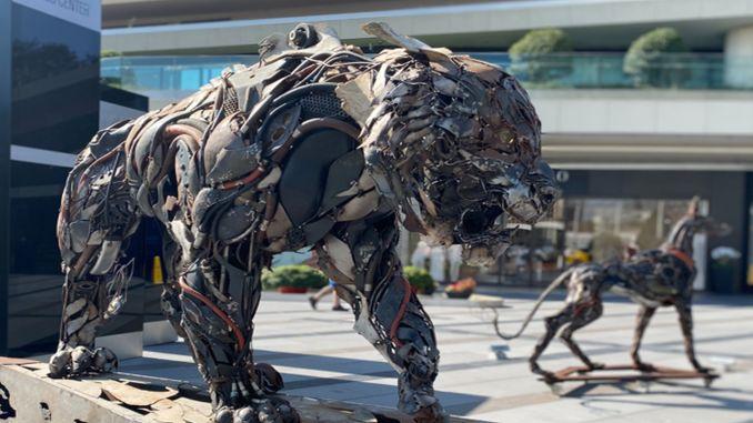 advanced transformation sculpture exhibition in Zorlu center