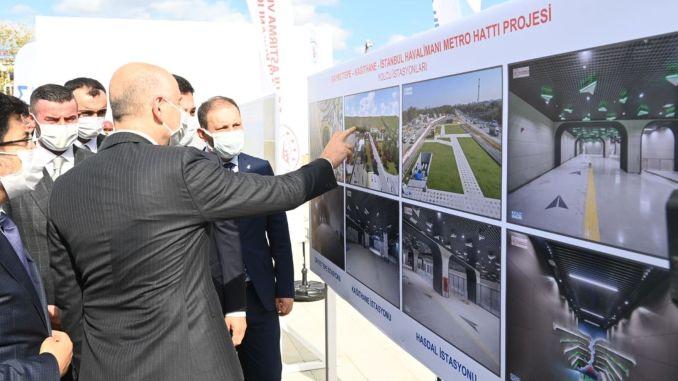 Test drives in Istanbul airport metro begin in November