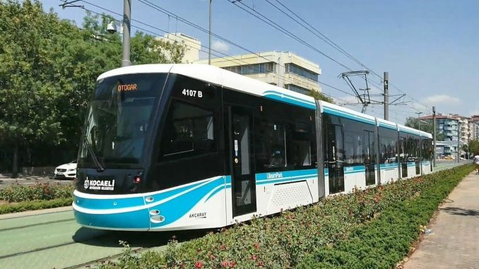 The tender for the izmit tram is in the report of the count