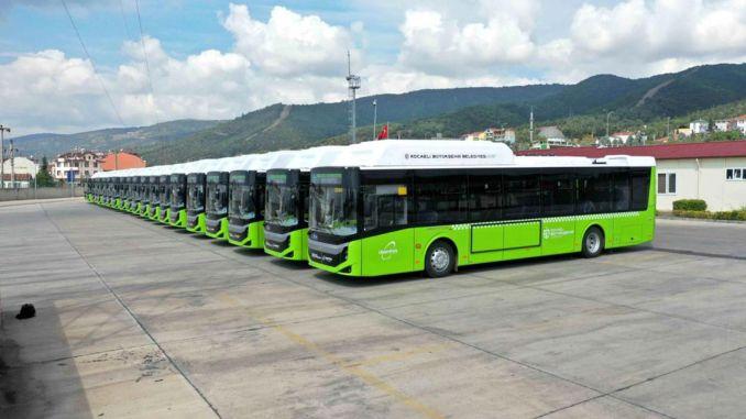 Die neuen Busse von Kocaeli sind da