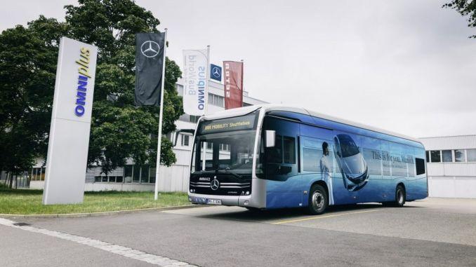 mercedes benz ecitaro iaa mobility also provided emission-free transportation