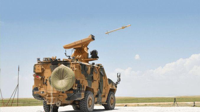sungur air defense missile system enters tsk inventory