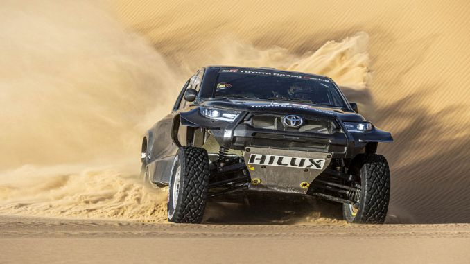toyota gazoo racing will compete with its four cars in the dakar rally