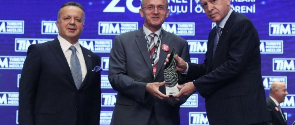 جائزة بطل تصدير صناعة السيارات تويوتا إلى تركيا