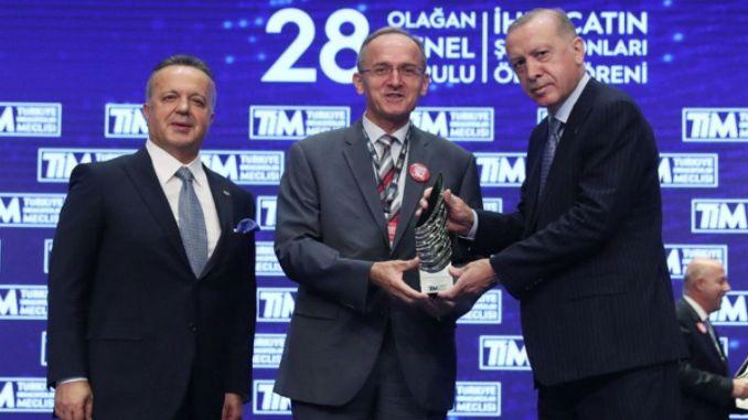 nagrada toyota automobilske industrije za izvoznog prvaka u Tursku