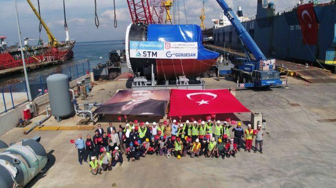 Sektion für U-Boote wurde zum ersten Mal in der Türkei hergestellt