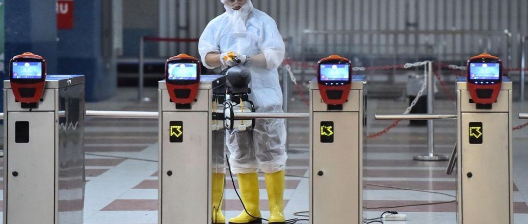 Роботи з прибирання та дезінфекції на станціях метро Анкара та станціях Анкарай