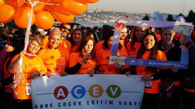 acev okuyan bir gelecek icin istanbul maratonunda kosmaya davet ediyor