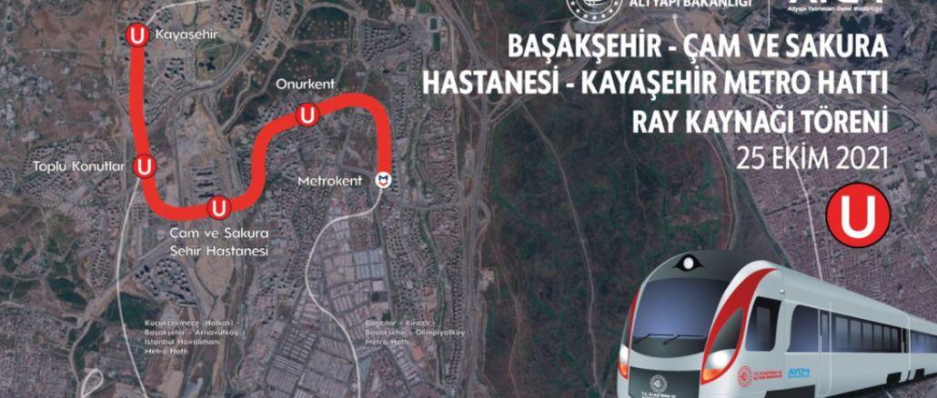 Başakşehir Kayaşehir metro line's first rail welding will be done today
