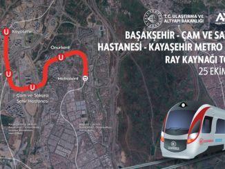 Die erste Schienenschweißung der U-Bahnlinie Başakşehir Kayaşehir wird heute durchgeführt